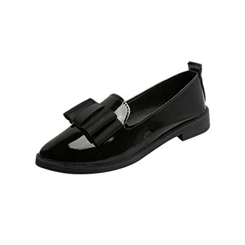 Damen schuhe,DOLDOA Pointed Toe Stiefel Niedriger Blockabsatz Stiefel Mit Bowknot Gr.34 - 39 (EU: 34, Schwarz,Pointed Toe Stiefe Mit Bowknot) (Sandale Arizona Womens)