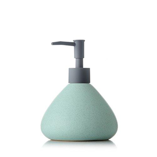 Keramischer/Manueller Seifenspender, keramische Emulsions-Verpackung, die leere Flasche drückt/Haupthotel-Shampoo/Duschgel/Handseife/große Kapazität 500ML,A