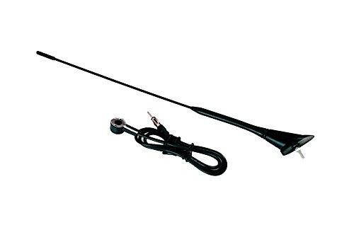 Preisvergleich Produktbild INION® Dachantenne 40cm mit Antennenfuss und Kabel (1, 20m) Universal Fahrzeugantenne Autoantenne Stabantenne