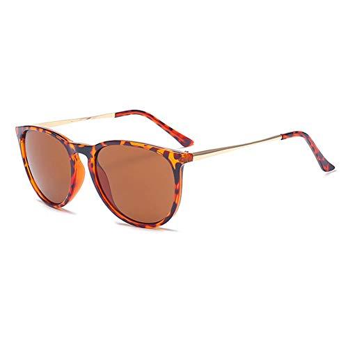 CCGSDJ Vintage Sonnenbrille Leopard Schwarz Rahmen Männer Marke Neue Sonnenbrille Weibliche Frauen Cat Eye Sunglass Eyewear Oculos