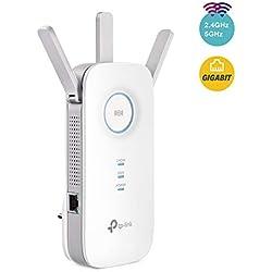 TP-Link RE450 Répéteur WiFi - Amplificateur WiFi AC 1750 Mbps, WiFi Extender, WiFi Booster, 1 Port Ethernet Gigabit, Augmente la borne wifi, Compatible avec toutes les box internet , Blanc