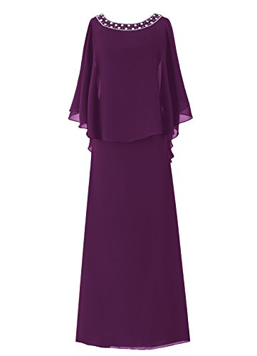 Dresstells Damen Bodenlang Mutter Kleider Abendkleider Grape