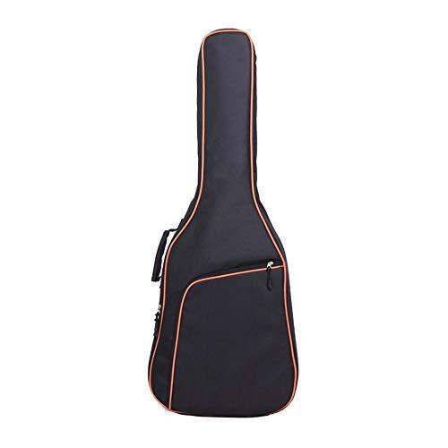 Erduo Verdicken Folk Guitar Bag doppelte Schultergurt Gitarre Tasche atmungsaktive Oxford Stoff 10mm gepolsterte Gitarre Instrumententasche - Orange 39 Zoll