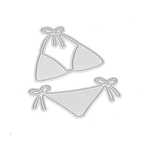zmigrapddn DIY Papierstanzformen, 2 Stück/Set Bikini Stanzformen DIY Schablone Scrapbook Prägung Papier Basteln Deko Metall Schablone Schablone Schablone DIY Handarbeit, Silber - Scrapbook-papier Weihnachten
