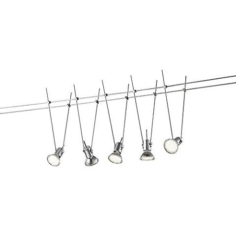 Trio Basic - Sistema de iluminación de interior con 5 luces, inPlafon, 3 W, MR16