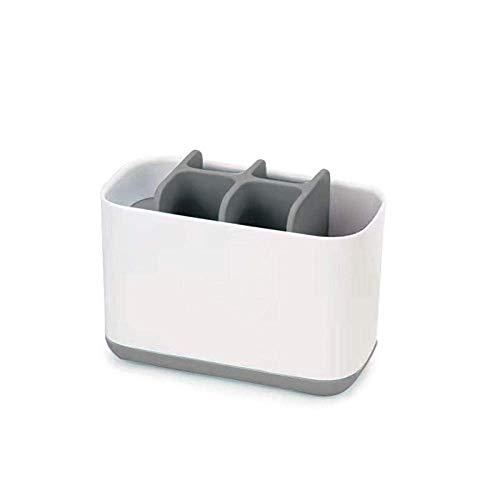 Zahnbürstenablage Zahnpastahalter Abnehmbares Bad Zahnpastamanager Praktische Aufbewahrungsbox, Golden_flower, Grau