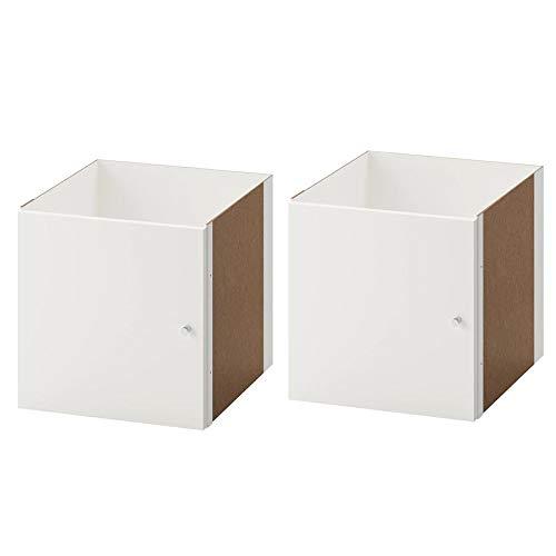2 XIKEA KALLAX Einsatz mit Tür in weiß; (33x33cm); Kompatibel mit EXPEDIT -
