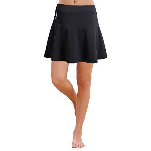 ANIVIVO Tennis-Leggings für Damen, Rock Capri-Leggings, Tennis-Hosen für Damen & Sport-Capri-Leggings mit Rock - - X-Groß - Ausgestattet Flare-hose