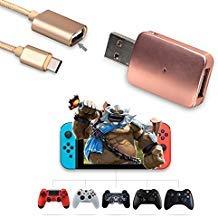 Controller Konverter für Nintendo Switch, macht Ihren PS3/PS4/Xbox One/Xbox 360Controller kompatibel mit Nintendo Schalter, Unterstützung für SOMATIC Game, Vibration-der U89, Gold - Controller Converter (Macht Ein Controller-xbox 360)