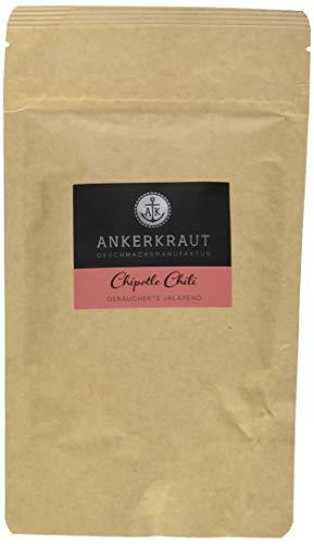 Ankerkraut Chipotle Chili, 130g im aromadichten Beutel, geräucherte Jalapeno Chili zum Schärfen & Verfeinern (Jalapeno-pulver)