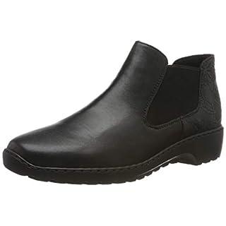 Rieker Damen L6090 Chelsea Boots, Schwarz (schwarz/schwarz 03), 41 EU