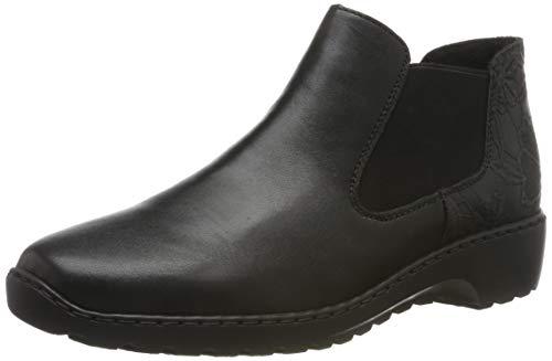 Rieker Damen L6090 Chelsea Boots, Schwarz (schwarz/schwarz 03), 40 EU