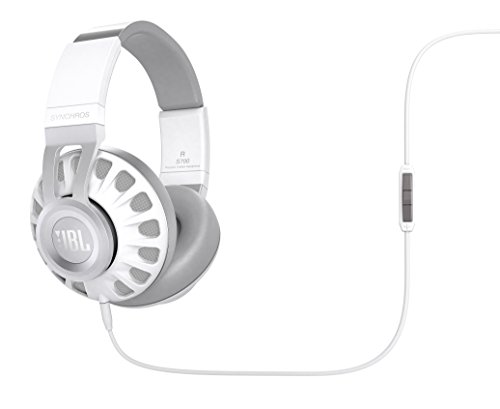 JBL Synchros Over-Ear Stereo-Kopfhörer (hochwertiger, aktiver, integrierter Fernbedienung/Mikrofonsteuerung, inkl. Transportetui, geeignet für Apple iOS/Android Geräten) weiß