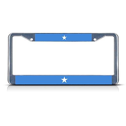 Somalia-Flagge, Metall-Kennzeichenrahmen, 2 Löcher, perfekt für Männer und Frauen, Auto-Garadge Dekor