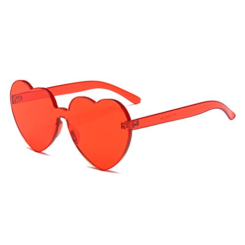 juqilu integrierte UV-Süßigkeit-Farben-Herz Sunglasse UV400 Herz-geformte Schatten-Sonnenbrille C2