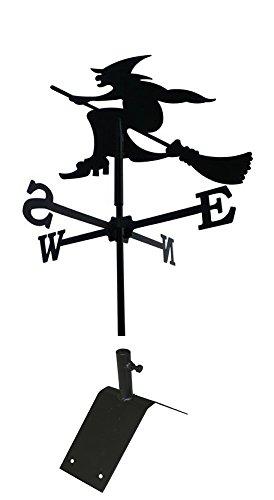 SvenskaV Wetterfahne Windspiel Hexe klein 40 x 71 cm, inkl. Dachfirst-Träger