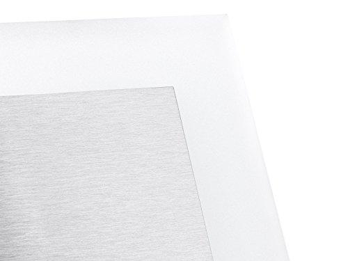 5 Stück LED Wand Einbau-Leuchte ideal für Treppen-beleuchtung – Moderne Form aus Edelstahl & Glas für 60mm Dosen warmweiß - 3