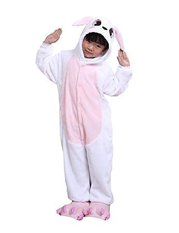 Costumes Bon Marché Halloween Pour Les Costumes Adolescente - Cliont Enfants animaux Lapin Pyjamas Kigurumi Costume