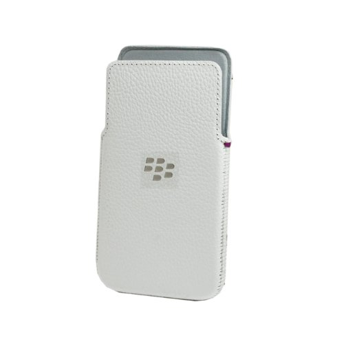 BlackBerry Z30 Leder Pocket Case weiß