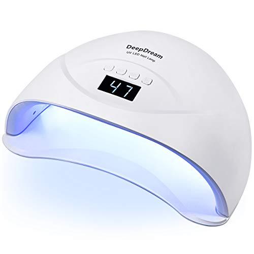 DeepDream 54W Professional Fast LED UV Nail Lamp for Gel Nails Smart Auto  Sensor 15/30/60/99s Timer Settings Nail Polish Curing Lamp Dryer