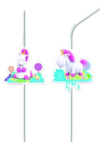 Fluffy * für Einen Kindergeburtstag | Minions Ich Einfach unverbesserlich Einhorn Mottoparty Motto Kinder Geburtstag Rosa Strohhalme ()