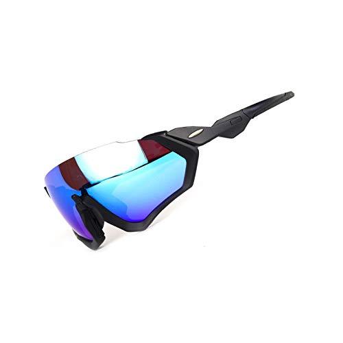 DOLOVE Motorradbrille Herren Schutzbrille Beschlagfrei Sonnenbrille Unisex Schutzbrille Antibeschlag Schwarz Blau