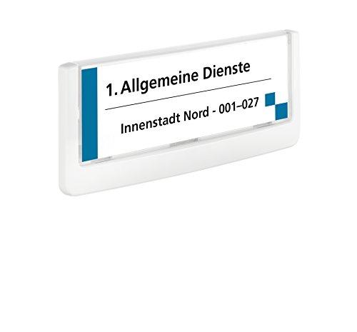 Durable 486002 Click Sign Türschild (149 x 52,5 mm, zum Ankleben oder Anschrauben) weiß