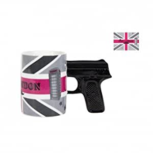 Mug pistolet en céramique avec boîte cadeau