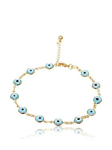 Córdoba Jewels | Pulsera en goldfilled Laminado de Oro 14/20. Diseño Ojo Turco Goldfilled