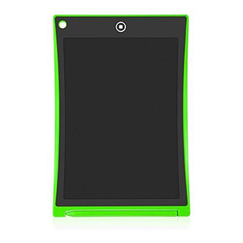 BABIFIS 8,5 Pulgadas se Puede borrar parcialmente Tableta Dibujo para niños Practicar Palabras Pantalla LCD electrónica Resaltar Luz Pequeña Pizarra Green