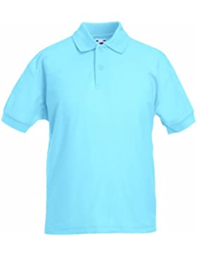 Fruit of the Loom - Camiseta tipo polo de manga corta para niños