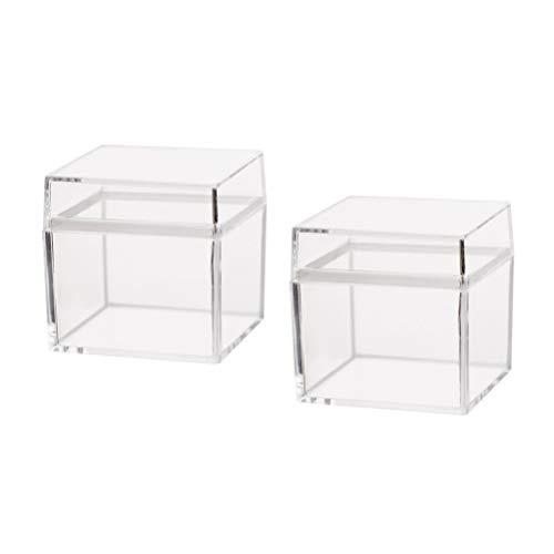 OUNONA 10 stücke Klar Kunststoffbox mit Deckel Cube Box für Geschenk Süßigkeiten Treat Cupcake Schmuck Transparente Verpackung Box Party Favors