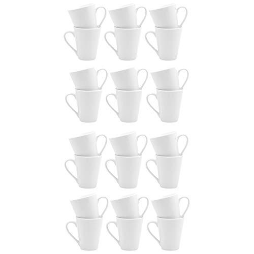 Argon Tableware Tasses Blanches pour Le thé ou pour Le café Latte - 285 ML (10 oz) - Boîte de 24