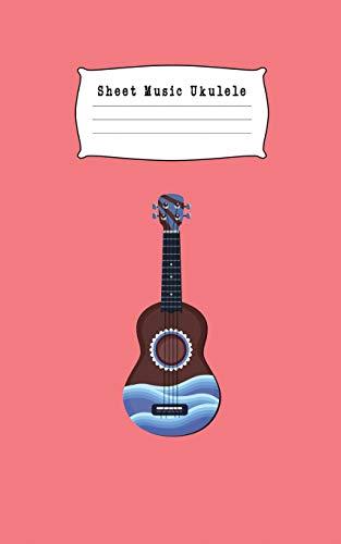 Sheet Music Ukulele: Composition and Songwriting Ukulele Music Song with Chord Boxes and Lyric Lines for Beginners or Musician Orange Color and Fancy Ukulele (Beste Tuner Ukulele)