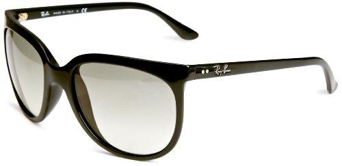 RAYBAN Unisex Sonnenbrille Cats 1000, (Gestell: Schwarz, Gläser: Hellgrau Verlauf 601/32), Large (Herstellergröße: 57)