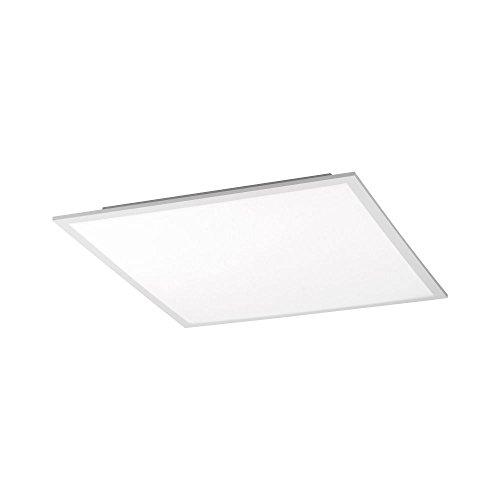 LED Panel Deckenleuchte flach Büroleuchte neutralweiß 45x45cm superflach Led Paneel 2400 Lumen Dimmer+Fernbedienung Bürolampe Tageslicht Decken-Lampe Wandlampe 4000 Kelvin neutralweiss dimmbar
