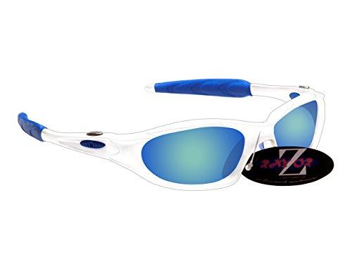 Rayzor professionnel léger UV400 Noir Sport Wrap Ski Lunettes de soleil, avec une Rouge Iridium miroir anti-éblouissement Lens.