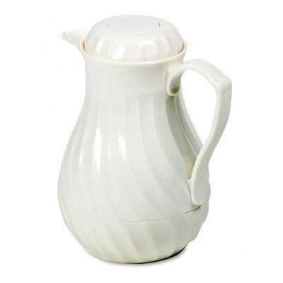Poly Lined Carafe, Swirl Design, 64 oz. Capacity, White Swirl White Mug