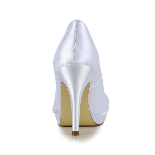 Jia Jia Wedding 3708B chaussures de mariée mariage Escarpins pour femme Blanc