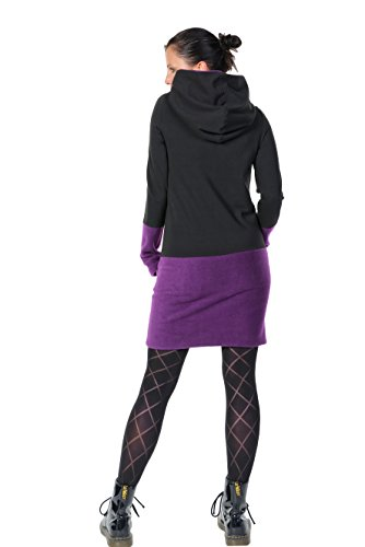 Hoodiekleid Winterzauber der Marke 3Elfen fair hergestellt in Berlin lila  fleece ...
