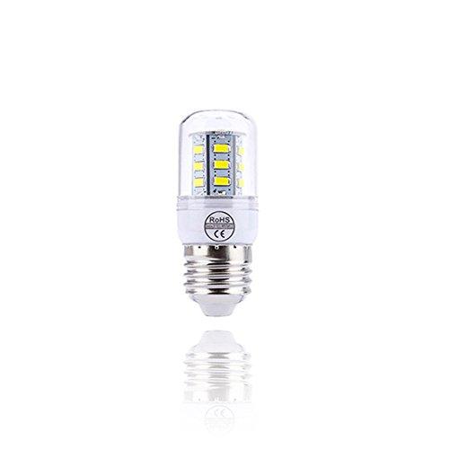 Preisvergleich Produktbild E27 3W LED Mais Glühbirnen 30W Entspricht Glühbirnen Nicht Dimmbar 2800-6500K Kaltes Weiß / Warmes Weiß Kleine Edison-Schraube Kerze Leuchtmittel (10Er-Pack) [Energieklasse A+], Coldwhite