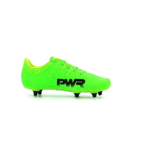 evoPOWER Vigor 4 SG Enfants - Crampons de Foot - Vert Gecko/Noir/Jaune Green Gecko / Puma Black / Safety Yellow