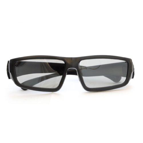 2er SET 3D-Brille für passive 3D TVs, PC-Spiele oder Kino RealD, Passivbrille (zirkular polarisiert) Farbe: schwarz - Marke Ganzoo