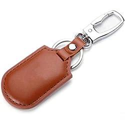 XGBDTJ Smart Anti Perdu Porte-Clés Bluetooth Locator Anti Perdu Téléphone Mobile Portefeuille Mode de Vie Alarme Animal Tracker Noir (Color : Brown, Size : One Size)