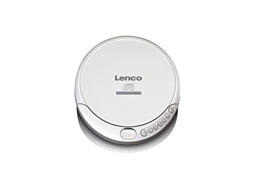 Lenco CD-Player CD-201 Discman mit MP3-Funktion, LCD-Display, Batterie- und Netzfunktion, Inklusive Stereo-Kopfhörer, USB-Ladekabel