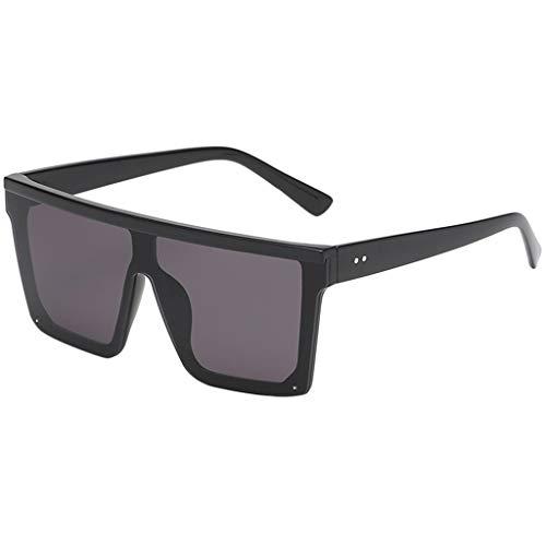 fazry Damen Herren Mode Persönlichkeit Platz Form Rahmen Sonnenbrille Vintage Punk Style Brille(E)