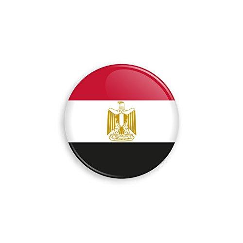 Flagge als Anstecker mit Nadel oder Magnet als Auswahl, 38 mm Durchmesser - Für Fußball WM, Themen Partys und Feiern oder als Geschenk - Magnet ()