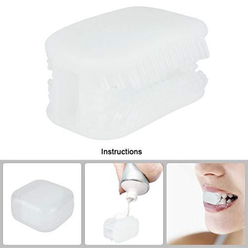 TuHao88 Lazy Toothbrush,Silikon Zahnbürste,Allround Chewing Automatische Zahnbürstenreinigung 2St (Klares)