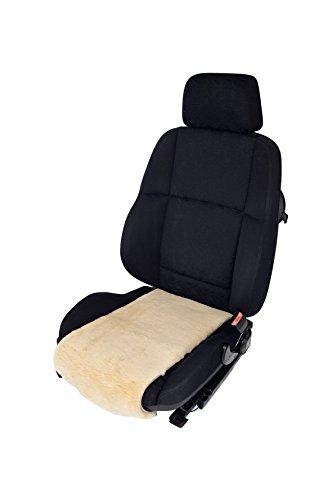Preisvergleich Produktbild Autositz-Auflage aus echtem Merino Lammfell Premium 36cm Breite x 60cm Tiefe für Sitzfläche (Sekt)