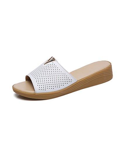 CHAOXIANG Pantofole Da Donna Antiscivolo Con tacco Ciabatte Piatte Sandali Da Surf Nuova Estate Ciabatte Spiaggia ( Colore : B , dimensioni : EU38/UK5/CN39 ) C